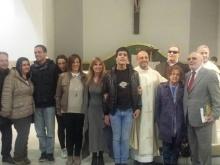 foto ricordo premiazione in Parrocchia a Roma