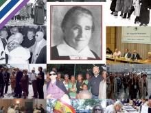 in copertina del sussidio del tema associativo un collage di foto dall'archivio del MAC. In primo piano la foto di Maria Motta