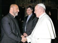 don alfonso assistente nazionale mac con papa francesco 29 dicembre 2017