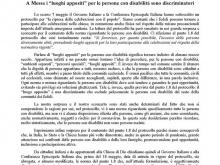 immagine della lettera su carta intestata del MAC inviata alla CEI e al Governo