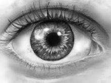 immagine di un occhio